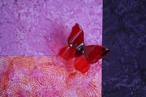Metamorfose - Piodoor - Paulien Rijkhoek (glazen vlinder Brenda Bleijenberg, www.glazeniers-glaskunst.nl)